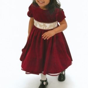 Rare Editions Red Short Sleeve Holiday Dress